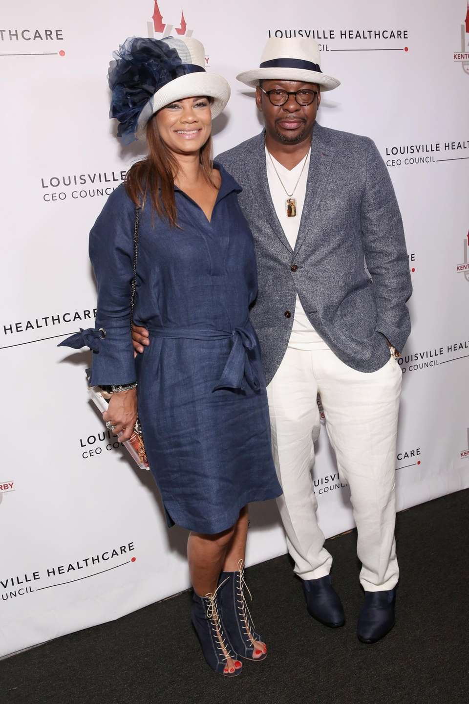 Alicia Etheredge and Bobby Brown attend Kentucky Derby