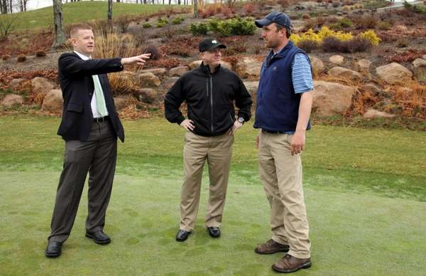Great Rock Golf Club manager Brian Curtin, left,
