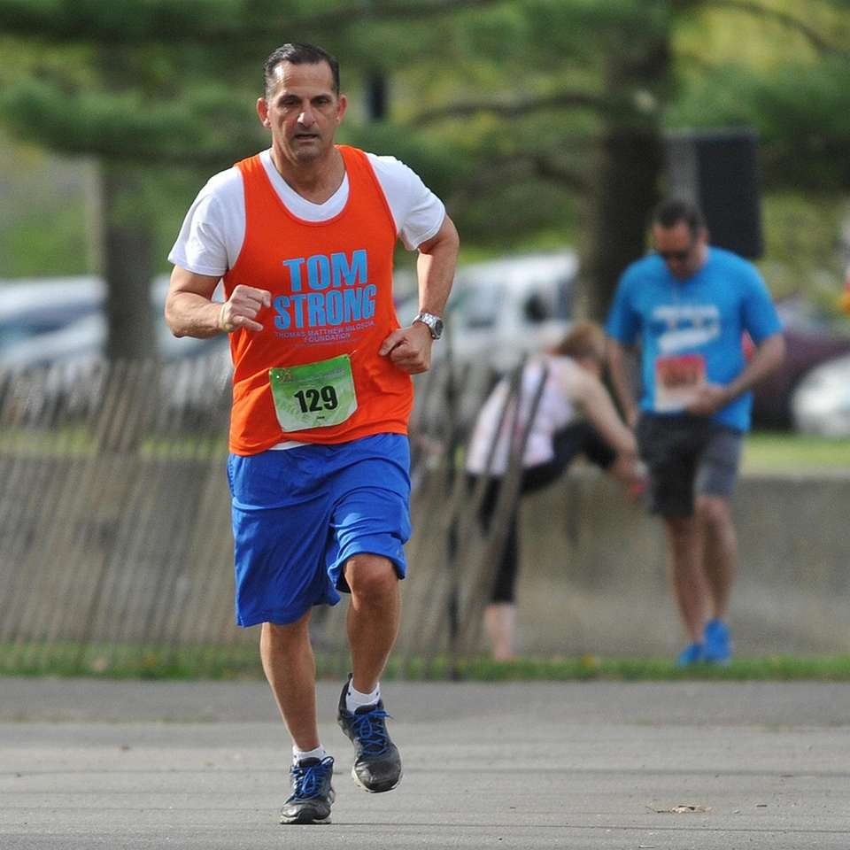 Joe Miloscia participates in the inaugural 1-mile race