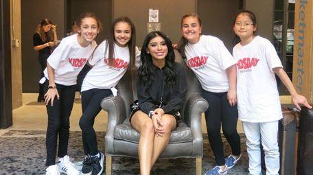 Pentatonix singer Kirstin Maldonado with Kidsday reporters from