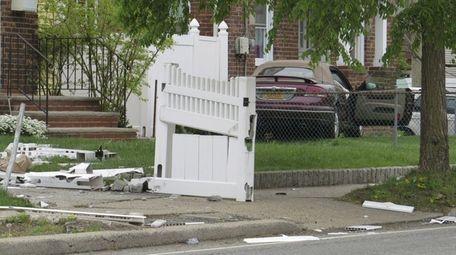 Police said a car struck a pedestrian and