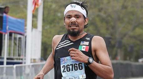 Narciso Mejia of New York City takes second