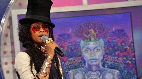 NEW YORK - MARCH 29: Recording artist Erykah