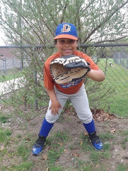 Daniel Rucano age 8 on the little league