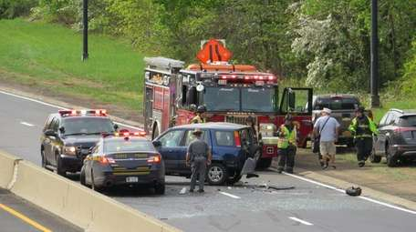 The scene of an accident Monday on the