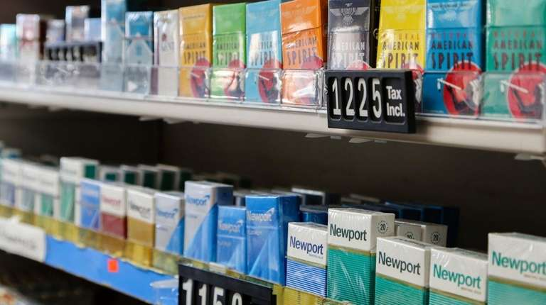 Cigarettes are sold at PK Smoke Shop &