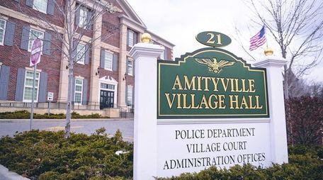 Amityville Village Hall, seen here on Feb. 25,