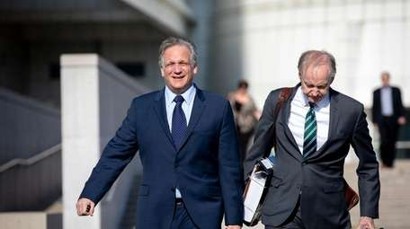 Edward Mangano, left, and his attorney Kevin Keating