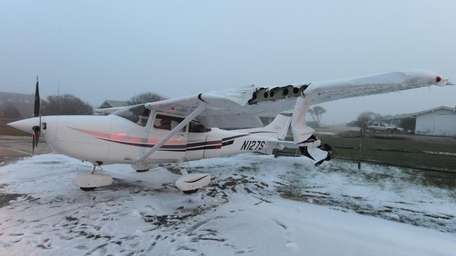 This single engine Cessna plane ran out of