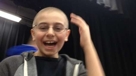 Kidsday reporter Christopher Tytone had his head shaved