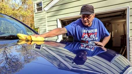 Patrick Gerrity, 66, of Elwood takes advantage of