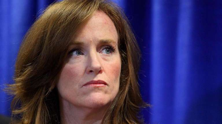 Nassau District Attorney Kathleen Rice speaks about the