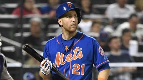 Todd Frazier after a strikeout against the Rockies
