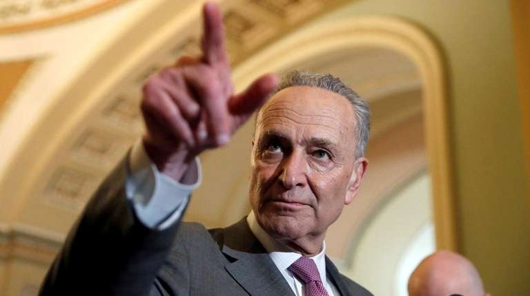 Senate Minority Leader Chuck Schumer (D-N.Y.) is seen