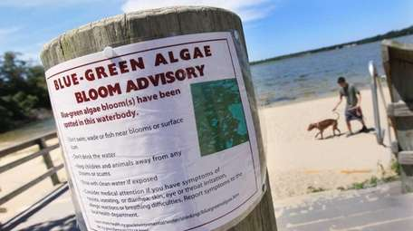 A sign posted at Lake Ronkonkoma in 2013