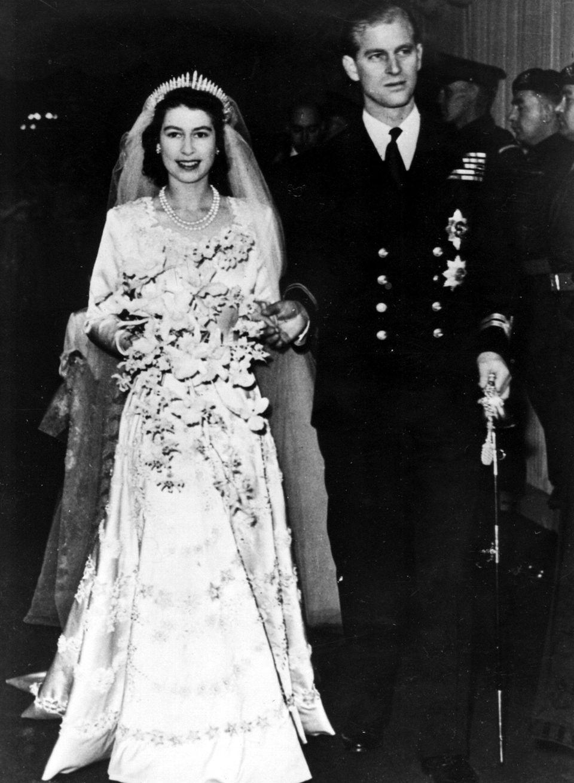 Queen Elizabeth II, then a princess, leaves Westminster