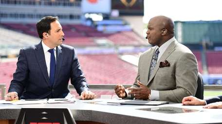 Joe Tessitore and Booger McFarland on the ESPN