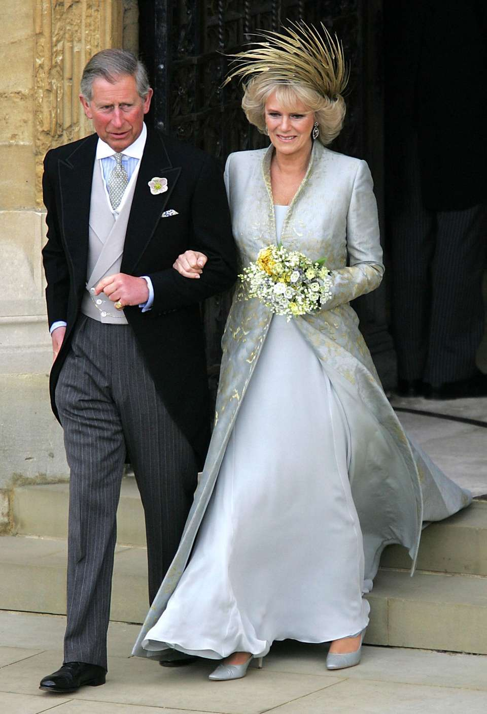 Prince Charles and Camilla, Duchess of Cornwall, leave