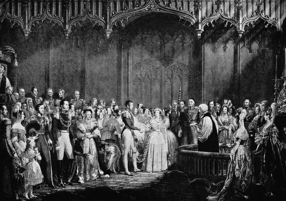 An illustration from the wedding of Queen Victoria