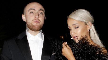 Mac Miller and Ariana Grande at a