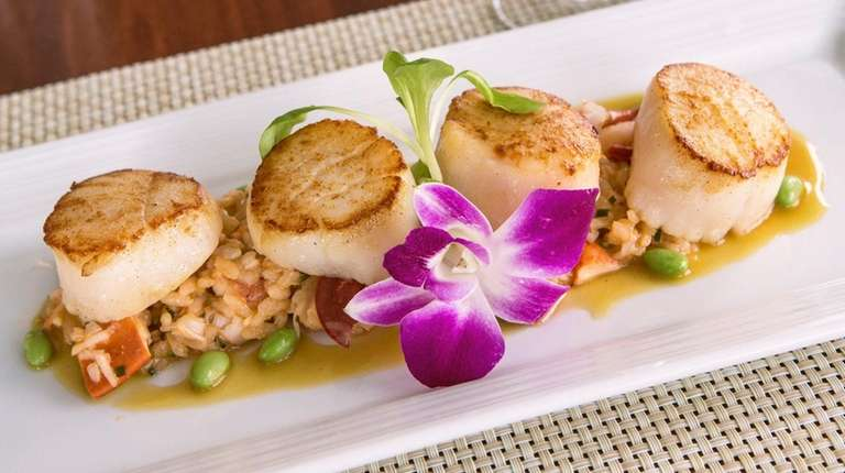 Pan Seared Local Diver Scallops With Montauk Lobster
