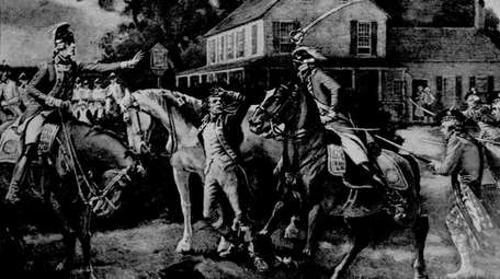 The capture of Gen. Nathaniel Woodhull depicted in