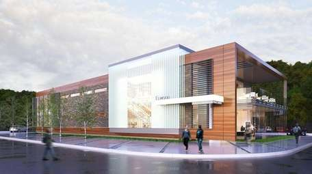 An artist's rendering of a proposed library for