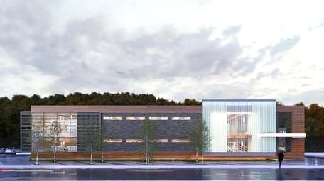 A rendering of the proposed library brance that
