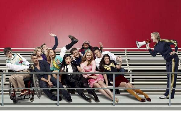 Pictured bottom row: Kevin McHale, Mark Salling, Jenna