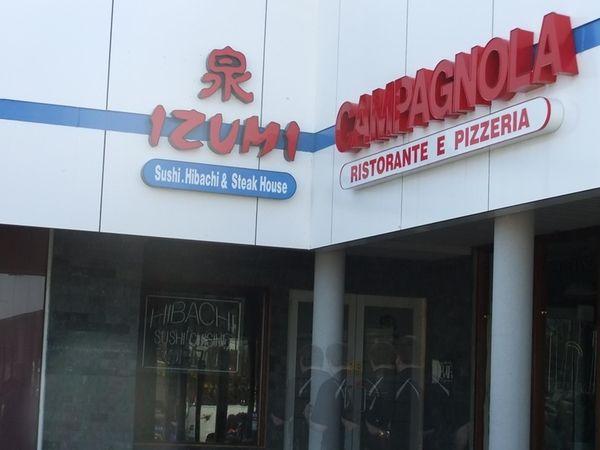 Exterior of soon-to-open Izumi Hibachi in Commack