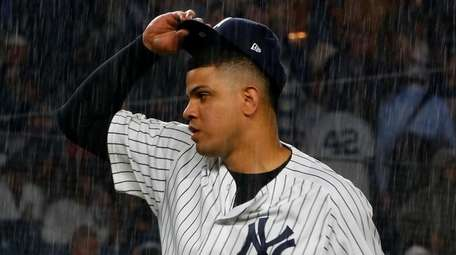 Dellin Betances of the New York Yankees gets