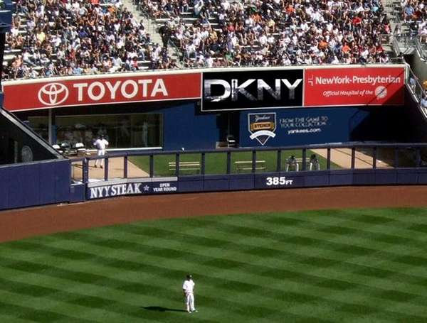 DKNY has a new presence in the outfield