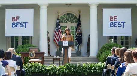 First lady Melania Trump announces her Be Best