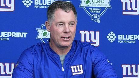 New York Giants head coach Pat Shurmur speaks