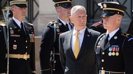 Secretary of Defense Jim Mattis at the Pentagon