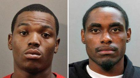 Jorge Burgess, 25, of Uniondale, left, and Joshua
