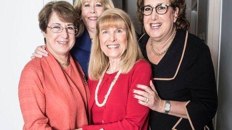 Hadassah Women's Zionist Organization members, from left, Frieda