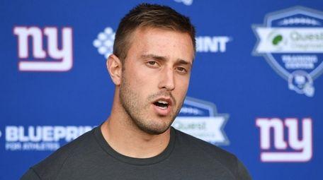 New York Giants quarterback Kyle Lauletta speaks to