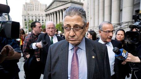 Former New York State Assembly speaker Sheldon Silver