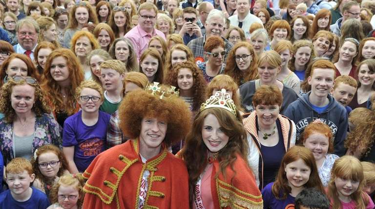 The newly crowned redhead king and queen, Alan
