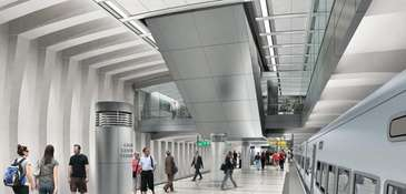 A rendering showing where LIRR riders will be