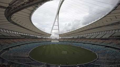 The newly built Moses Mabhida Soccer Stadium in