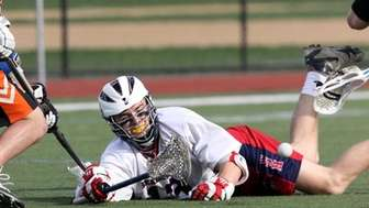 Hicksville at Cold Spring Harbor boys lacrosse. A
