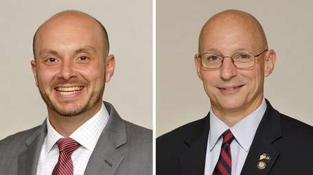 Andrew Garbarino, left, and Dean Murray, both Republican