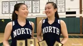 Great Neck North's Chelsea Wong and Keva Li