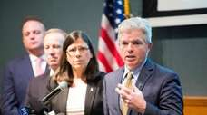 Suffolk County Executive Steve Bellone on April 2.