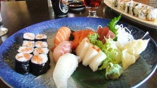 Sushi-sashimi plate at Haiku, Riverhead
