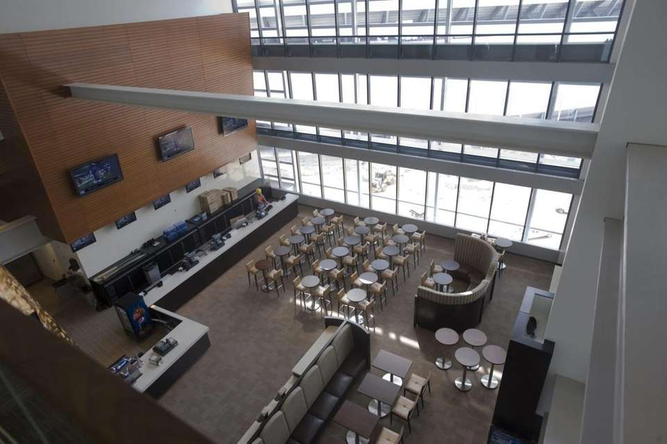 The west Mezzanine Club dining/lounge area at the