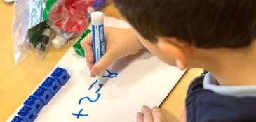 Students work on lessons at Prospect School in