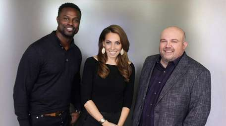 From left, Bart Scott, Maggie Gray and Chris